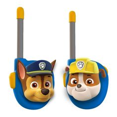 Amazon.com: Paw Patrol Chase and Rubble Character Walkie Talkies: Toys & Games