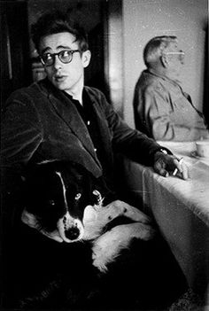 A dog and James Dean