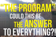 """""""The Program"""" - Could This Be The Answer To Everything"""