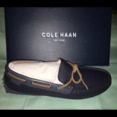 COLE HANN Grant Canoe Camp Moccasin Brand new in original box. Never been worn or even taken out of original box. Cole Haan Shoes Moccasins