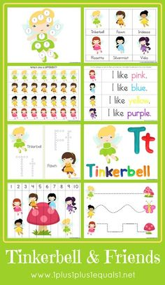 Tinkerbell and Friends Printable Pack from @{1plus1plus1} Carisa