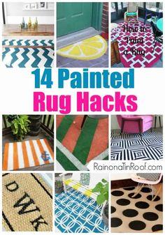 14 Painted Rug Hacks