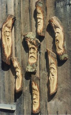 wood spirit carving - Google Search