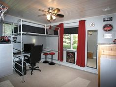 Pipe Lofted Bed & Desk                                                                                                                                                                                 More
