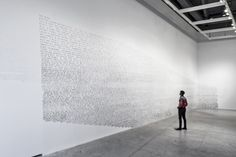 Fiona Banner, Indian ink on wall. Courtesy the artist. Installation view courtesy The Power Plant. Photo by Toni Hafkenscheid. Conceptual Photography, Types Of Photography, Conceptual Art, Art Photography, Fiona Banner, Light Installation, Light Art, Pop Art, Contemporary Art