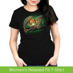 Bedtime Story Women's Relaxed t-shirt model How To Train Your Dragon TeeTurtle