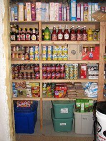 I love motivation like this. One day I am going to have a permanent storage solution and I am going to fill the shelves with food.