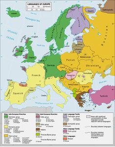 Languages of Europe (classification by linguistic family). Source: link