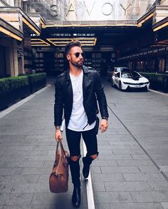 Yes or no for this outfit by ? Stylish Men, Men Casual, Style Board, Denim Fashion, Fashion Outfits, Fashion Fashion, Casual Outfits, Estilo Denim, Leather Jacket Outfits