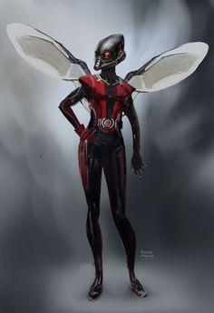 Antman Concept art - Wasp by Ubermonster Marvel Dc Movies, Marvel Memes, Marvel Characters, Captain Marvel, Marvel Avengers, Marvel Comics, Vespa Marvel, Hulk, Marvel Concept Art
