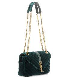 mytheresa.com - Classic Monogram quilted velvet shoulder bag - Luxury Fashion for Women / Designer clothing, shoes, bags