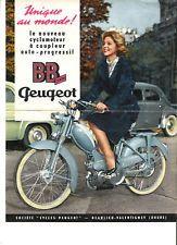 PEUGEOT CYCLES BB 1 CENTRI - 1959 / catalogue brochure prospekt dépliant catalog