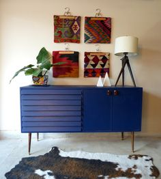 Blue + Wood Sideboard ||with a storied past|| — StyleMutt Home - Your Home Decor Resource For All Breeds Of Style