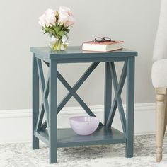 Safavieh Candence End Table Finish: Teal