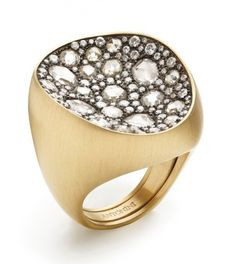 Another Extraordinaire ring from Antonini, in 18-karat yellow gold with diamonds ($16,940)