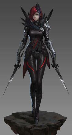 #female #redhead #daggers #armor #rogue http://urly.fi/lbM