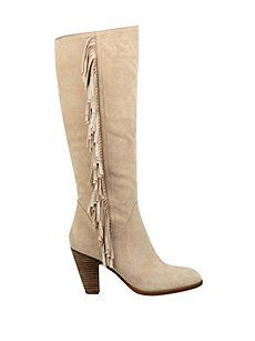 12/21 Guess Migal Fringed Suede Boots ($32.49) 84% Off #dresses