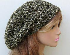 Parsley Tam slouchy beanie Hat, Hippie Dreadlock Sock Slouchy beanie dread cotton blend, green summer beanie hat