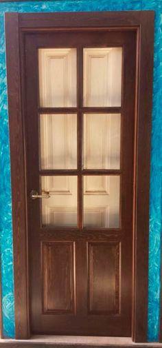 Casabella puerta de madera interior con acabado blanco y for Puertas interiores rusticas