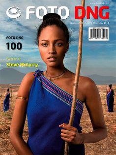 Revista Foto DNG número 100, con foto de portada de Steve McCurry