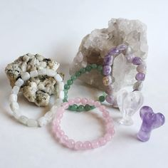 Wonderworks is fully stocked with so many beautiful crystal bracelets.  Here we have Aventurine, Moonstone, Rose Quartz, and Amethyst. All of  them are gentle and loving stones.  Oh and do you see the cute little crystal  amethyst and quartz angels?  . . .  #energy     #goodvibes     #quotes  #inspiration  #torontolife  #gifts #local  #toronto  #motivation  #healing #quoteoftheday  #balance  #health  #love #holistic  #quotestoliveby  #instagood #instalike  #chakra #me #yoga #yogi