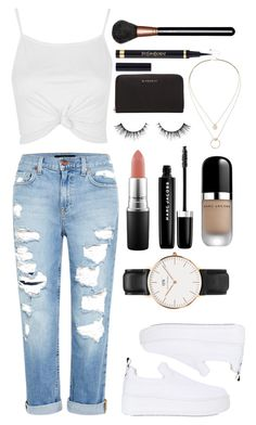 """""""*"""" by xxtraceyxx on Polyvore featuring Genetic Denim, Topshop, Windsor Smith, Daniel Wellington, MAC Cosmetics, Marc Jacobs, Sole Society and Givenchy"""