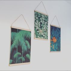 DIY wooden dowel picture hanger how to palm tree scroll wallpaper