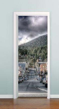 Porta com profundidade ( Street 01)  - à partir de R$ 99,00 *Solicite uma imagem para sua porta, criamos ela pra você!!!