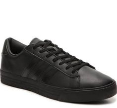 Men's adidas NEO Cloudfoam Super Daily Leather Sneaker - - Black
