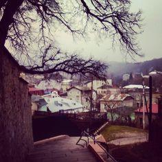 Buchach town in autumn, Western Ukraine