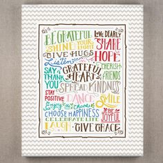 Be Grateful - Wrapped Canvas Print