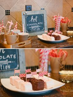 Great Idea For A Winter Wedding Hot Chocolate Station At Peppermint Pine ShowerWinter Baby