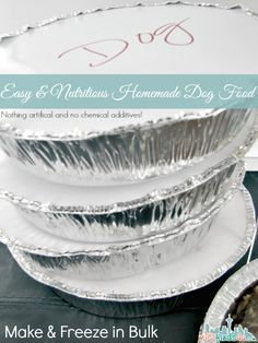 Easy Homemade Dog Food Recipe - Freezer Cooking | Seattle Lifestyle Blog  - make, bake, and freeze enough for a month at a time!