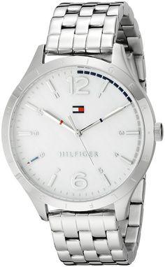 Tommy Hilfiger Women's 1781546 Casual Sport Analog Display Quartz Silver Watch $135