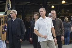 Gibbs with the NCIS New Orleans team: Brody, Pride, & LaSalle