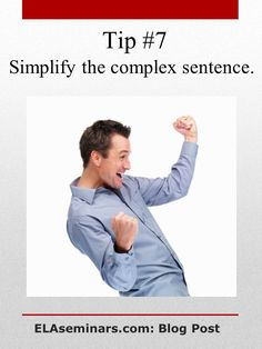Teach the S-A-W Strategy to help students seamlessly connect dependent clauses to independent clauses. By using just three subordinate conjunctions (S-A-W = Since-Although-When), young writers learn how to construct and punctuate complex sentences. Click on this pin to get a two-week, classroom-ready unit. Find more tips at http://pinterest.com/elaseminars/ or have lessons delivered to your inbox by clicking http://elaseminars.com/opt-in-1.htm