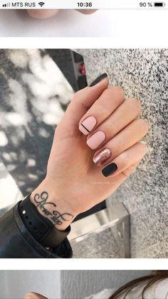 Cute Nail Colors, Cute Nails, Pretty Nails, Bright Colors, Neutral Colors, Short Nail Designs, Nail Art Designs, Nails Design, Summer Nail Designs