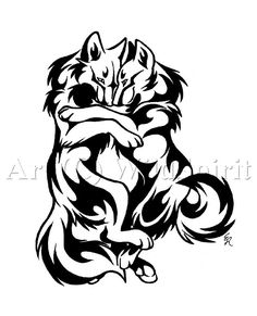 Cuddle Wolves Tattoo Design by *WildSpiritWolf on deviantART