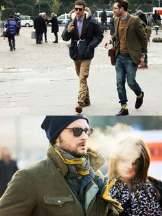 I love men's jean, walker, and bracelet. street-style-men-shoes-rolled-up-jeans