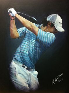 Rory McIlroy painting by Mark Robinson... #golf #art