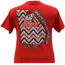 Georgia Bulldogs State Chevron shortsleeve unisex fit t-shirt