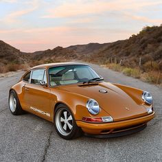 This Burnt Orange Custom Porsche Is What Automotive Perfection Looks Like - Airows Singer Porsche, Porsche 911 Classic, Porsche 911 Targa, Lamborghini, Ferrari, Maserati, Ferdinand Porsche, Porsche Models, Classic Cars
