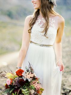 gorgeous illusion neckline on this dress from bhldn.com