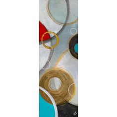 Playful Abstract II Canvas Art - Michael Marcon (12 x 36)