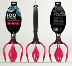 #Branding #packaging for Foo Tongs kitchen utensils | Created by @Designmatic