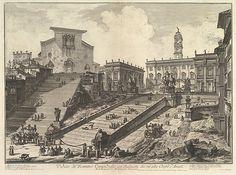 Giovanni Battista Piranesi | The Capitol and the steps of S. Maria in Aracoeli (Veduta del Romano Camipidoglio con scalinata che va alla chiesa d'Araceli) | The Met