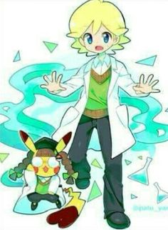 Clemont and Cosplay Pikachu