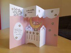 Karte - Stampin' Up! - Moon Baby und Aus freudigem Anlass - Kirschblüte, Zartrosa, Safrangelb