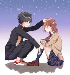 The Level 5 Gathered [Daily Biribiri Anime Love Couple, I Love Anime, Anime Manga, Anime Art, A Certain Scientific Railgun, A Certain Magical Index, Otaku, Light Novel, Anime Couples