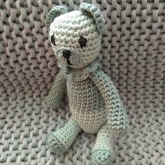 Mini medvídek mentolový Crochet Dolls, Teddy Bear, Toys, Mini, Animals, Activity Toys, Animales, Animaux, Toy
